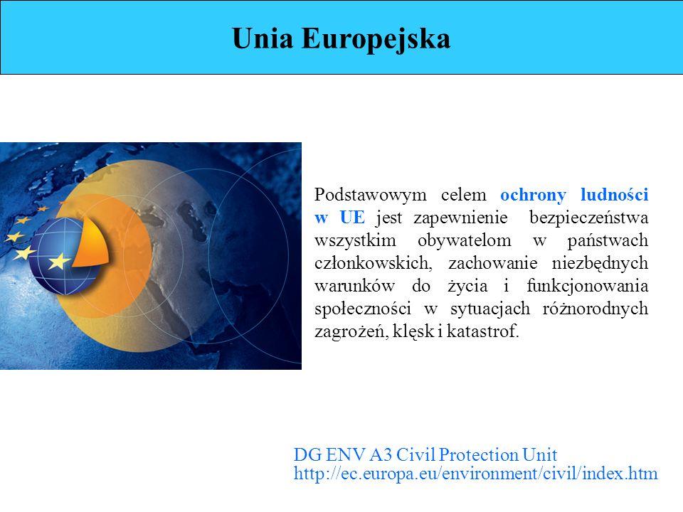 Podstawowym celem ochrony ludności w UE jest zapewnienie bezpieczeństwa wszystkim obywatelom w państwach członkowskich, zachowanie niezbędnych warunków do życia i funkcjonowania społeczności w sytuacjach różnorodnych zagrożeń, klęsk i katastrof.