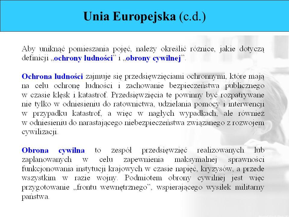 Unia Europejska (c.d.)