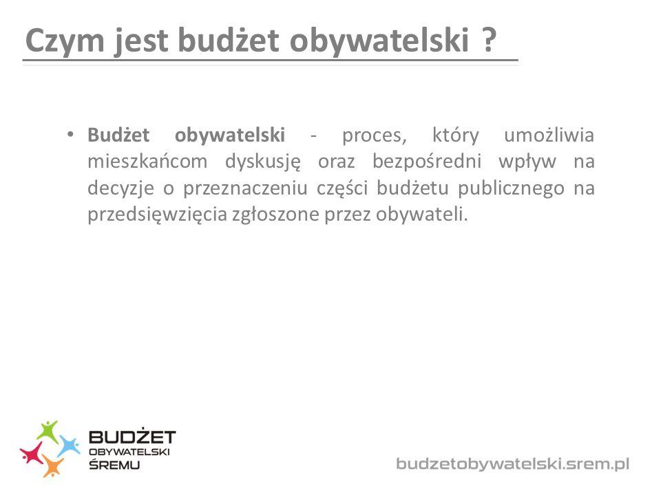 Czym jest budżet obywatelski .