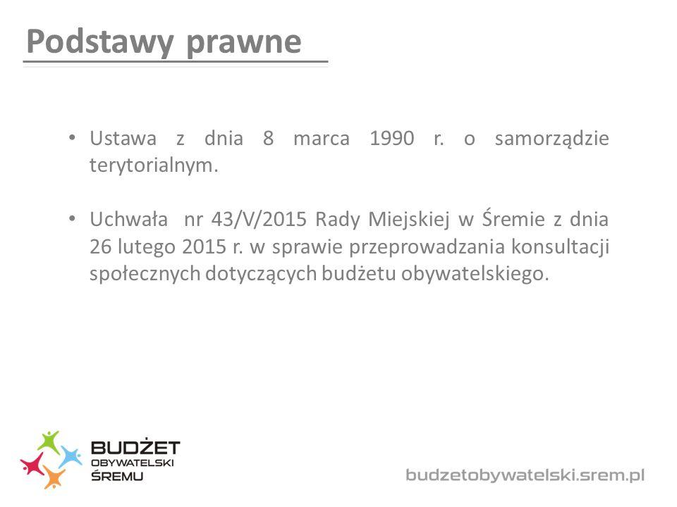 Podstawy prawne Ustawa z dnia 8 marca 1990 r. o samorządzie terytorialnym.