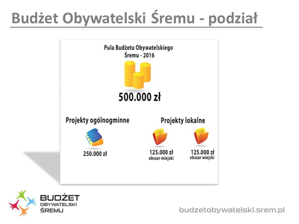 Budżet Obywatelski Śremu - podział