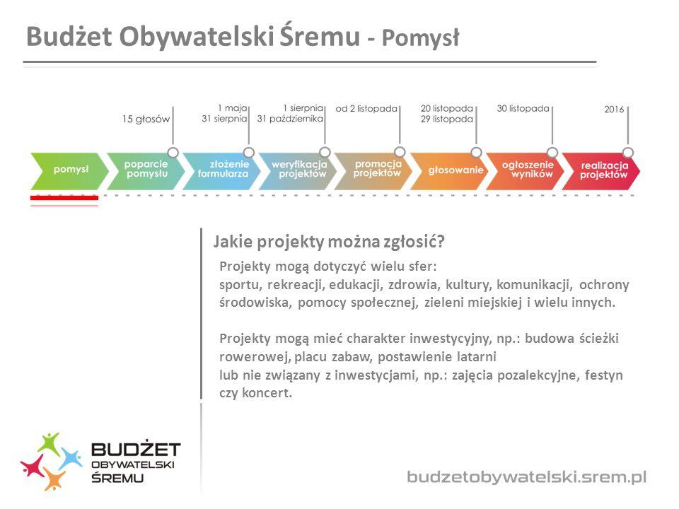 Budżet Obywatelski Śremu - Pomysł Jakie projekty można zgłosić.