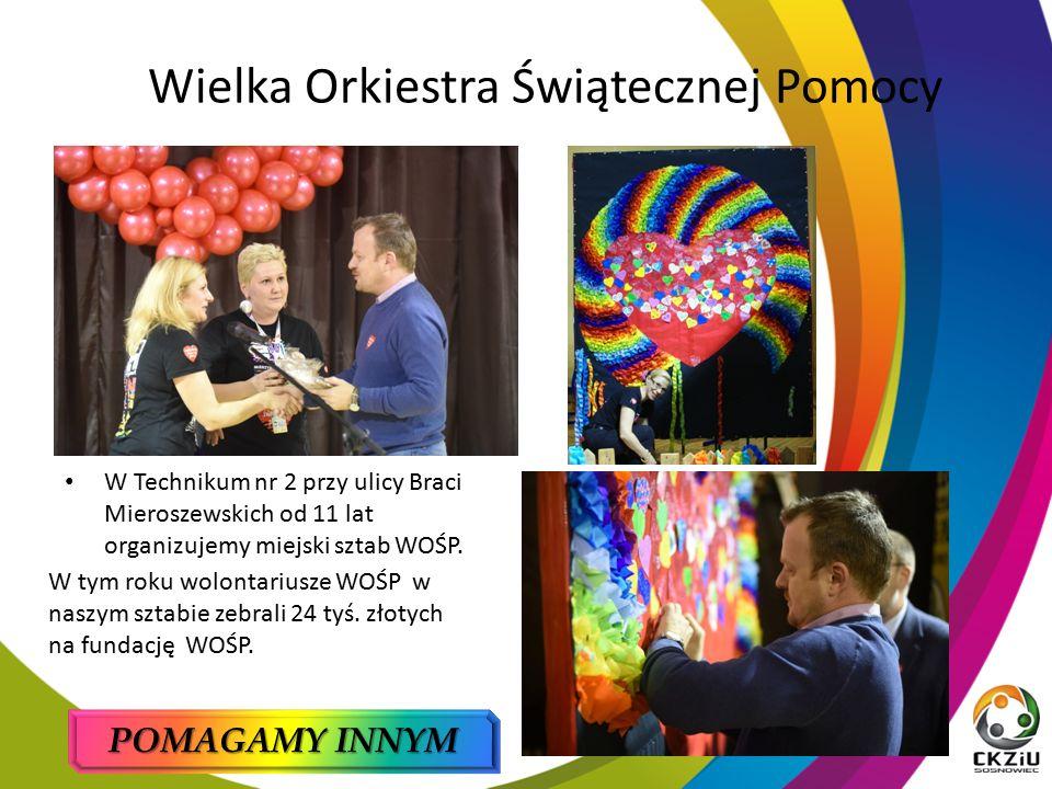 Wielka Orkiestra Świątecznej Pomocy W tym roku wolontariusze WOŚP w naszym sztabie zebrali 24 tyś.