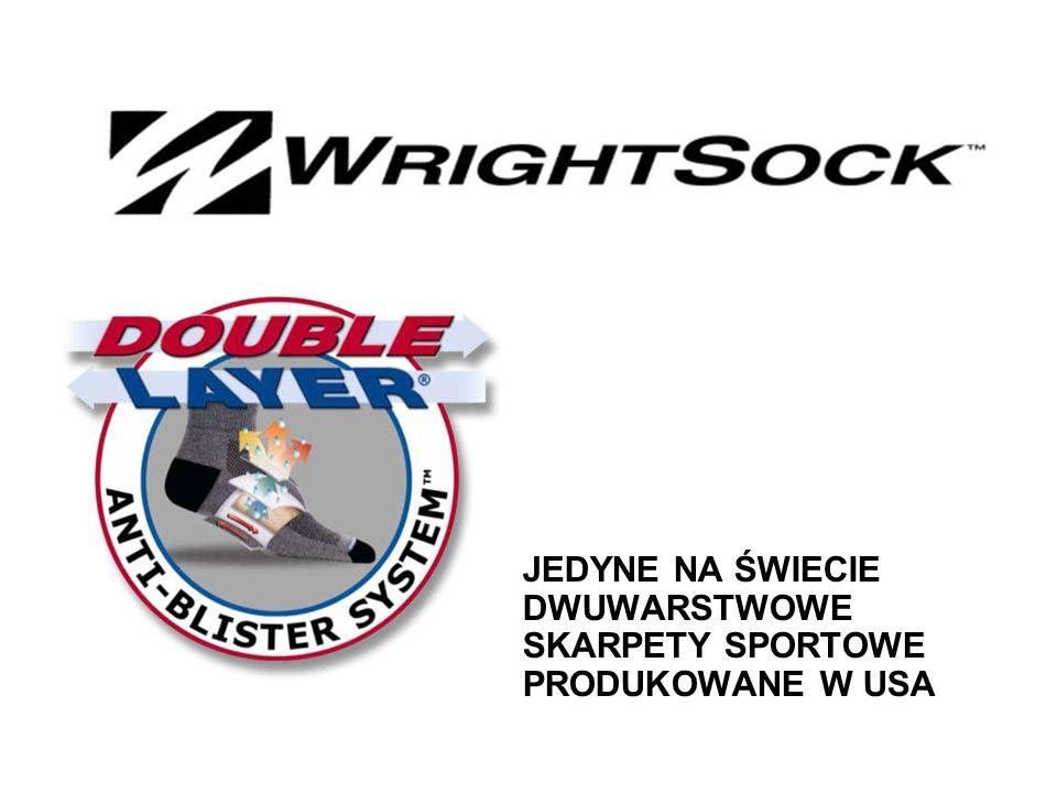 Skarpety WRIGHTSOCK™ Double Layer® wykonane są w unikalnej, opatentowanej technologii, aby zapewnić: Odprowadzanie wilgoci Regulację temperatury Redukcję tarcia Dzięki tym cechom skarpety WRIGHTSOCK™ dają poczucie komfortu przez cały rok i pozwalają osiągnąć sportowy sukces bez otarć i pęcherzy.