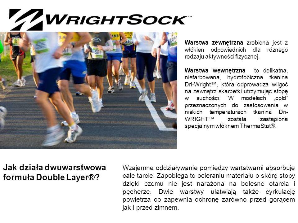 Warstwa zewnętrzna zrobiona jest z włókien odpowiednich dla różnego rodzaju aktywności fizycznej.
