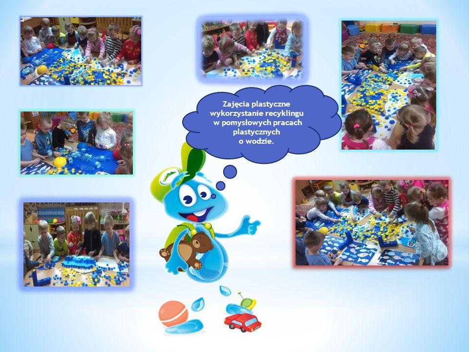 Zajęcia plastyczne wykorzystanie recyklingu w pomysłowych pracach plastycznych o wodzie.