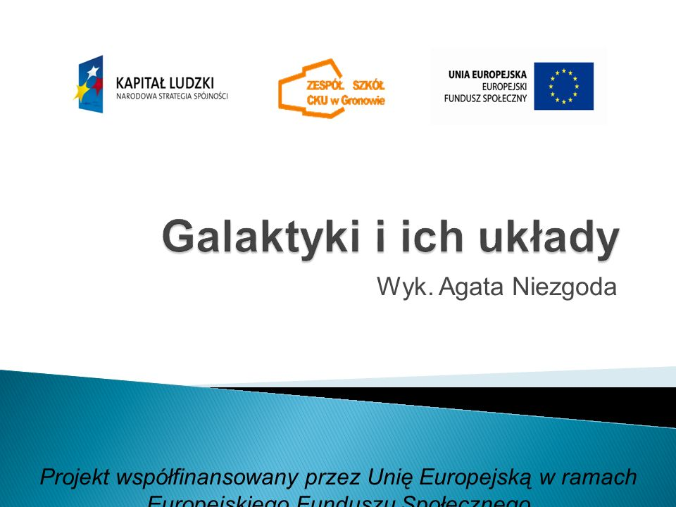 Wyk. Agata Niezgoda Projekt współfinansowany przez Unię Europejską w ramach Europejskiego Funduszu Społecznego