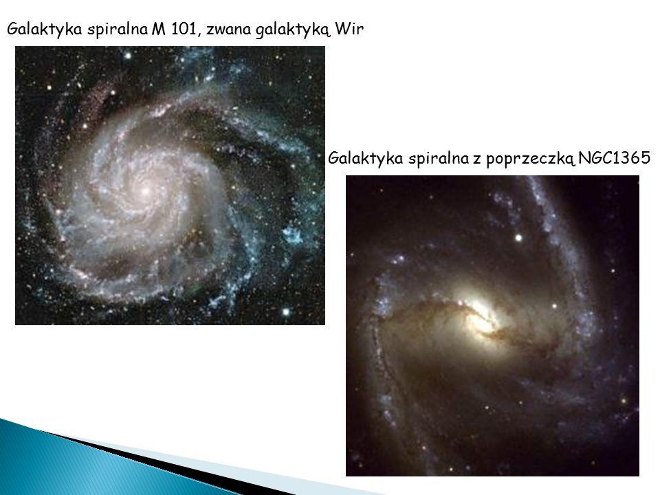 Galaktyka spiralna M 101, zwana galaktyką Wir Galaktyka spiralna z poprzeczką NGC1365