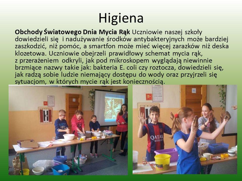 Higiena Obchody Światowego Dnia Mycia Rąk Uczniowie naszej szkoły dowiedzieli się i nadużywanie środków antybakteryjnych może bardziej zaszkodzić, niż