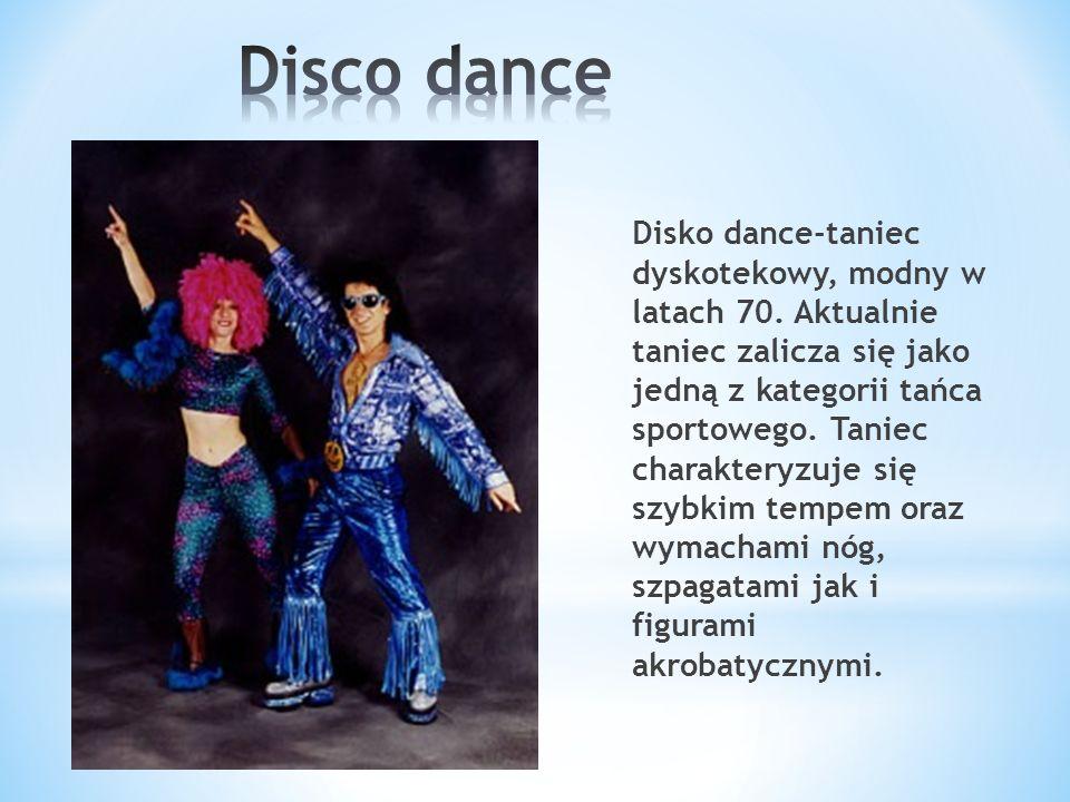 Disko dance-taniec dyskotekowy, modny w latach 70.