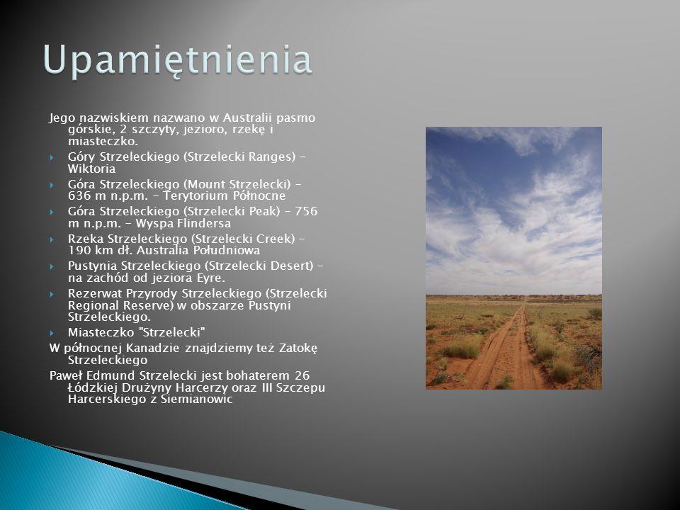 Jego nazwiskiem nazwano w Australii pasmo górskie, 2 szczyty, jezioro, rzekę i miasteczko.