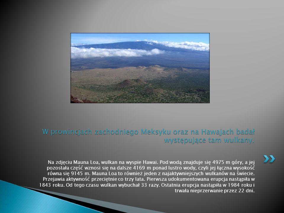 Na zdjęciu Mauna Loa, wulkan na wyspie Hawai.