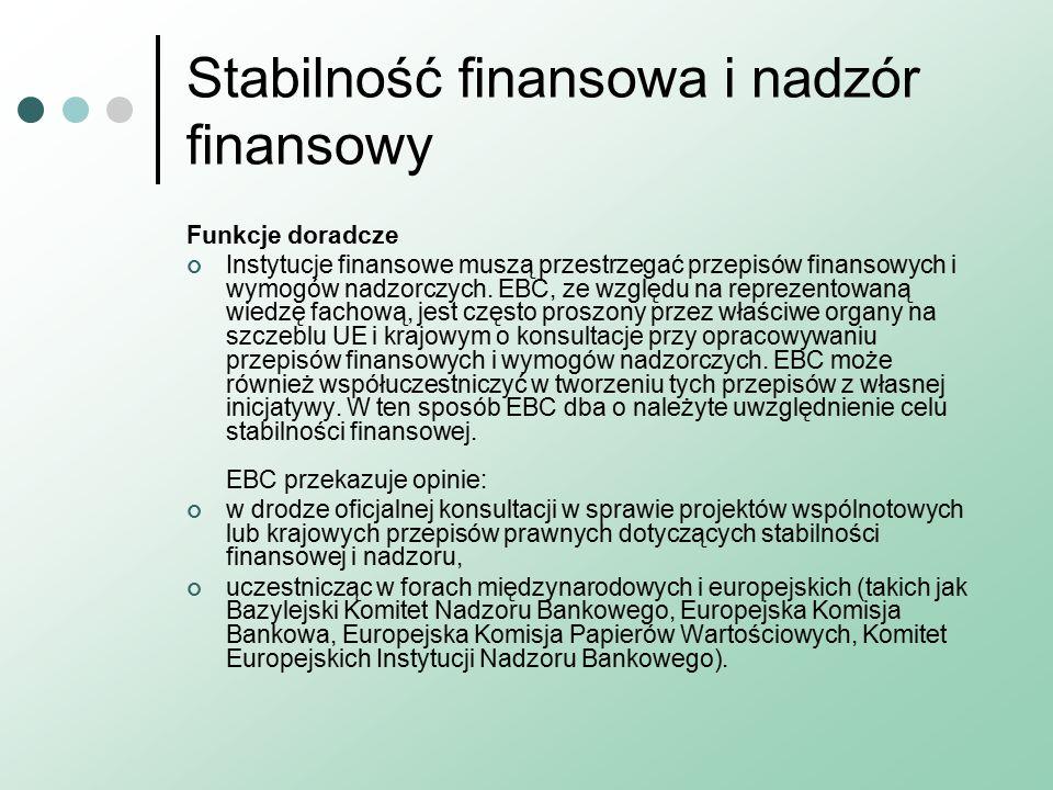 Stabilność finansowa i nadzór finansowy Funkcje doradcze Instytucje finansowe muszą przestrzegać przepisów finansowych i wymogów nadzorczych.