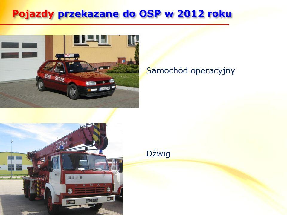 Pojazdy przekazane do OSP w 2012 roku Samochód operacyjny Dźwig