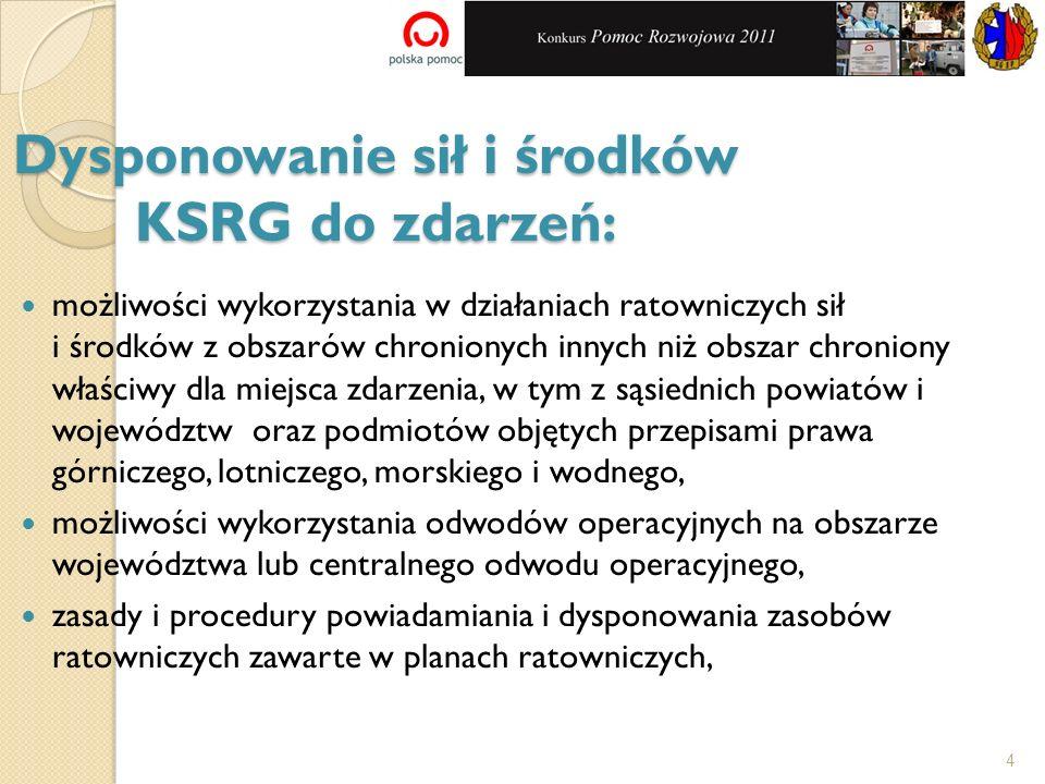Dysponowanie sił i środków KSRG do zdarzeń: możliwości wykorzystania w działaniach ratowniczych sił i środków z obszarów chronionych innych niż obszar