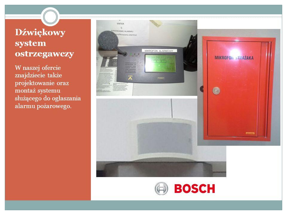 Dźwiękowy system ostrzegawczy W naszej ofercie znajdziecie także projektowanie oraz montaż systemu służącego do ogłaszania alarmu pożarowego.