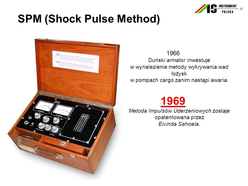 SPM (Shock Pulse Method) 1966 Duński armator inwestuje w wynalezienie metody wykrywania wad łożysk w pompach cargo zanim nastąpi awaria. 1969 Metoda I