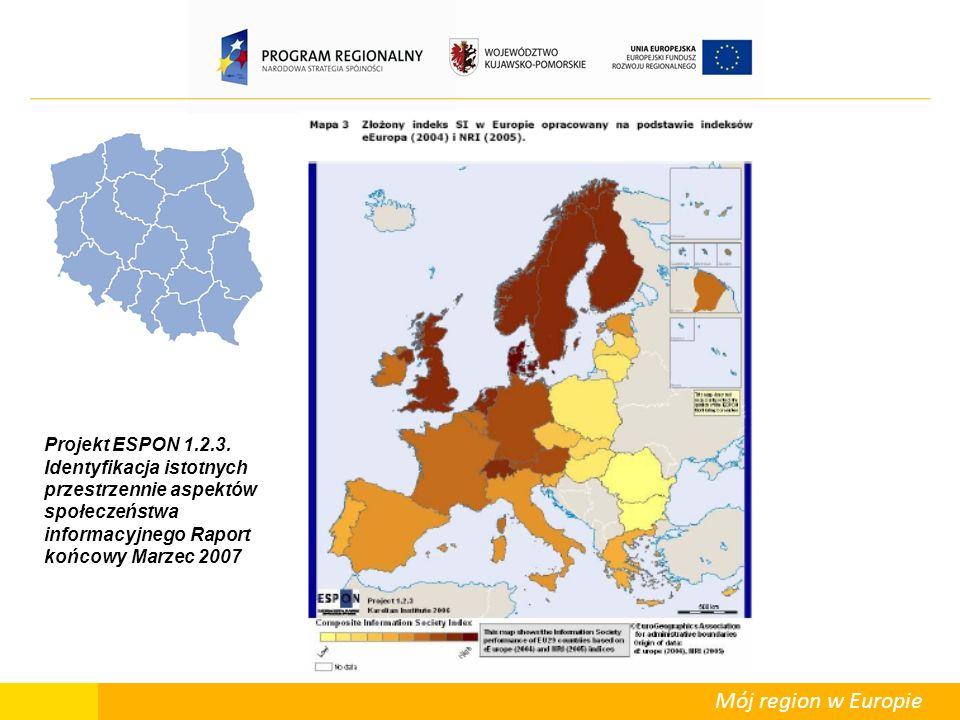 Mój region w Europie Projekt ESPON 1.2.3.