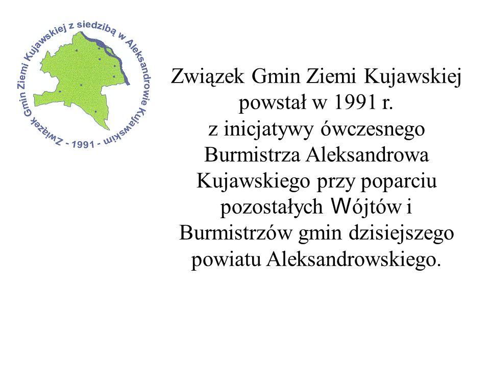 Związek Gmin Ziemi Kujawskiej powstał w 1991 r. z inicjatywy ówczesnego Burmistrza Aleksandrowa Kujawskiego przy poparciu pozostałych W ójtów i Burmis