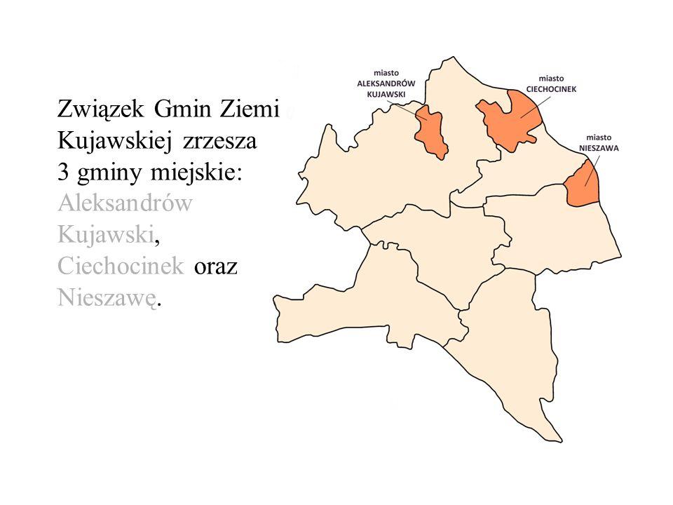 Związek Gmin Ziemi Kujawskiej zrzesza 3 gminy miejskie: Aleksandrów Kujawski, Ciechocinek oraz Nieszawę.