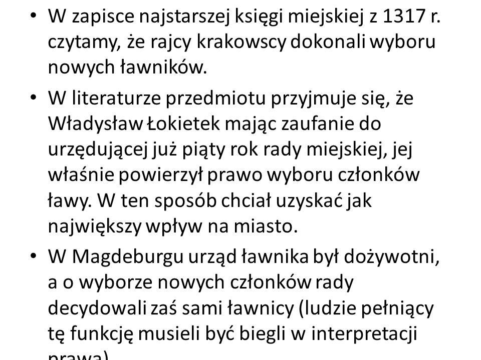 W zapisce najstarszej księgi miejskiej z 1317 r.