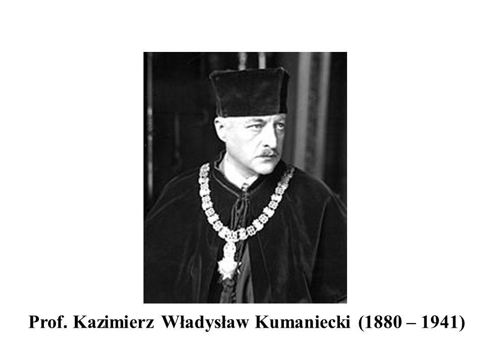 Prof. Kazimierz Władysław Kumaniecki (1880 – 1941)