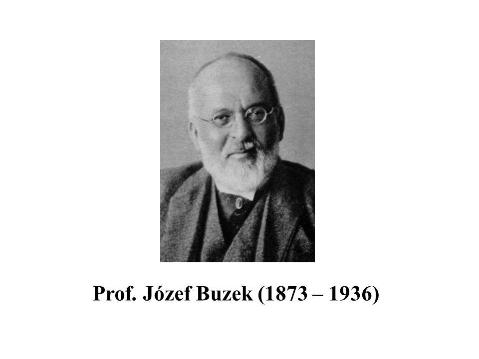Prof. Józef Buzek (1873 – 1936)