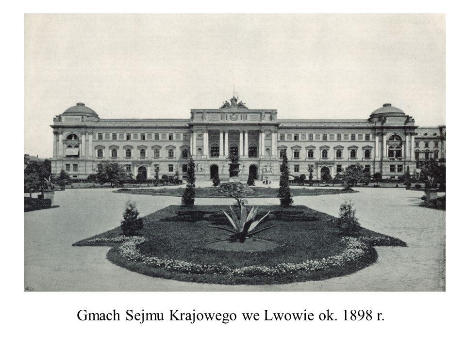 Gmach Sejmu Krajowego we Lwowie ok. 1898 r.