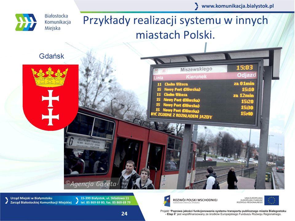 23 System Dynamicznej Informacji Pasażerskiej W pierwszej kolejności w tablice systemu informacji pasażerskiej zostaną wyposażone poniższe przystanki.