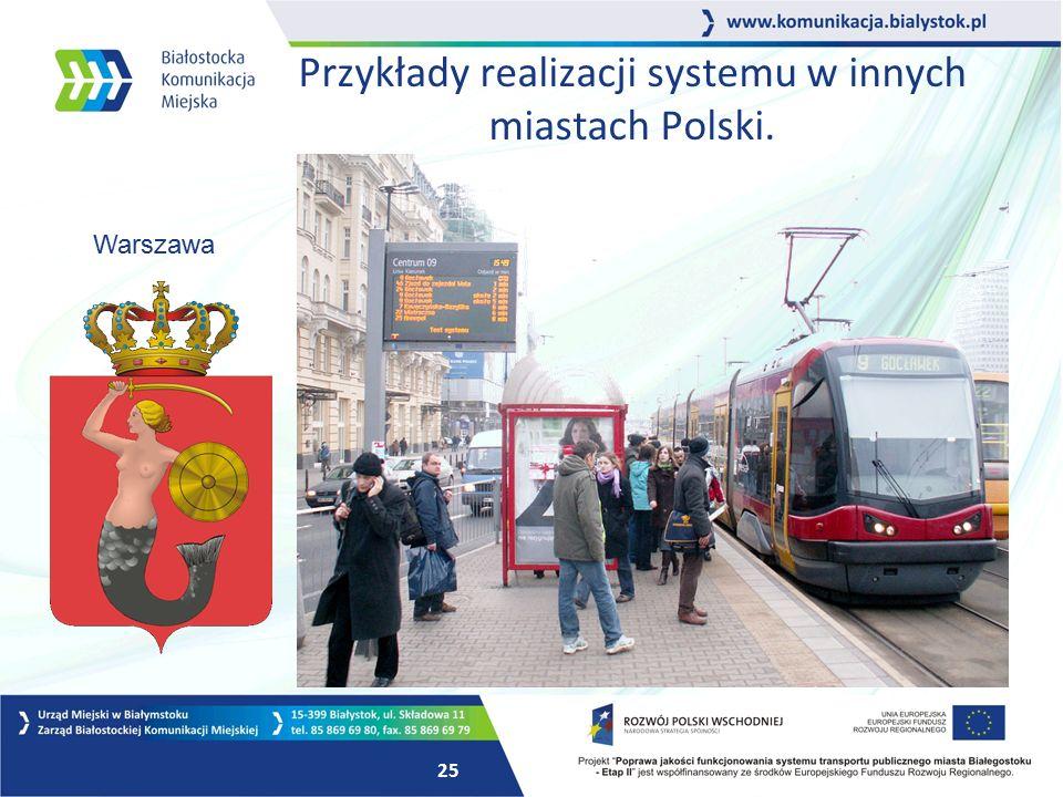 24 Przykłady realizacji systemu w innych miastach Polski. Gdańsk