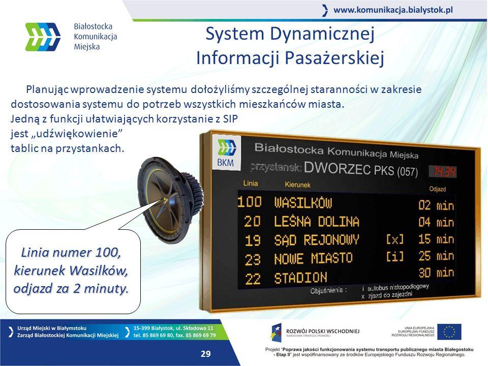 28 Schemat działania SIP Autobus komunikacji miejskiej Sieć GSM Sieć GSM Centrum Obsługi Systemu Informacja o położeniu i punktualności GPS GPRS Tablica informacyjna na przystanku