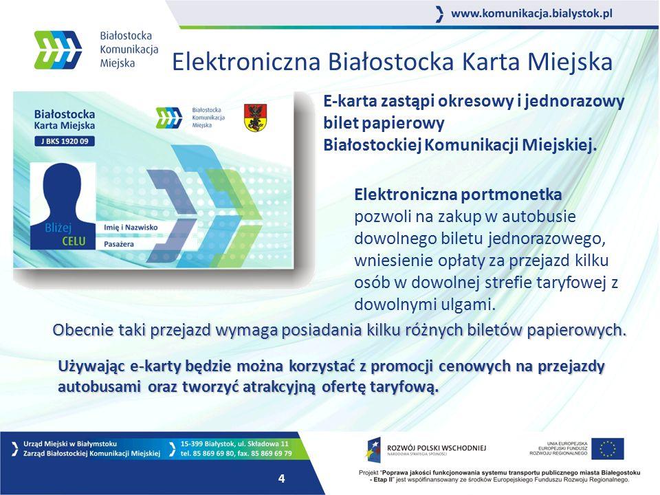 e-BKM Elektroniczna Białostocka Karta Miejska e-BKM Elektroniczna Białostocka Karta Miejska