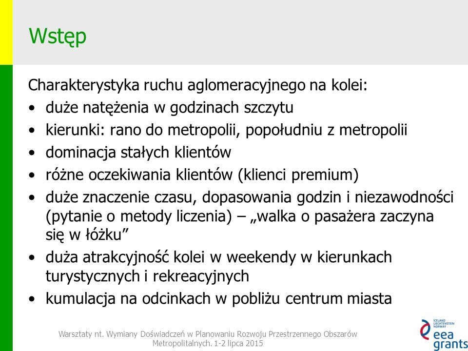 Koleje aglomeracyjne w Niemczech Warsztaty nt.