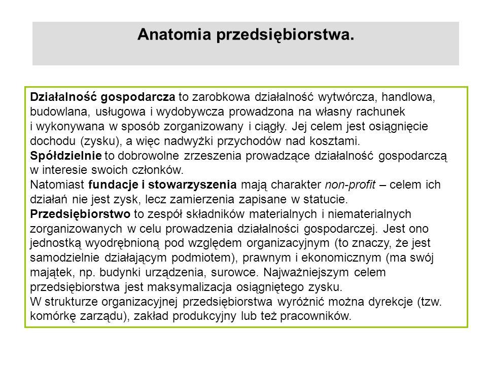 Anatomia przedsiębiorstwa.