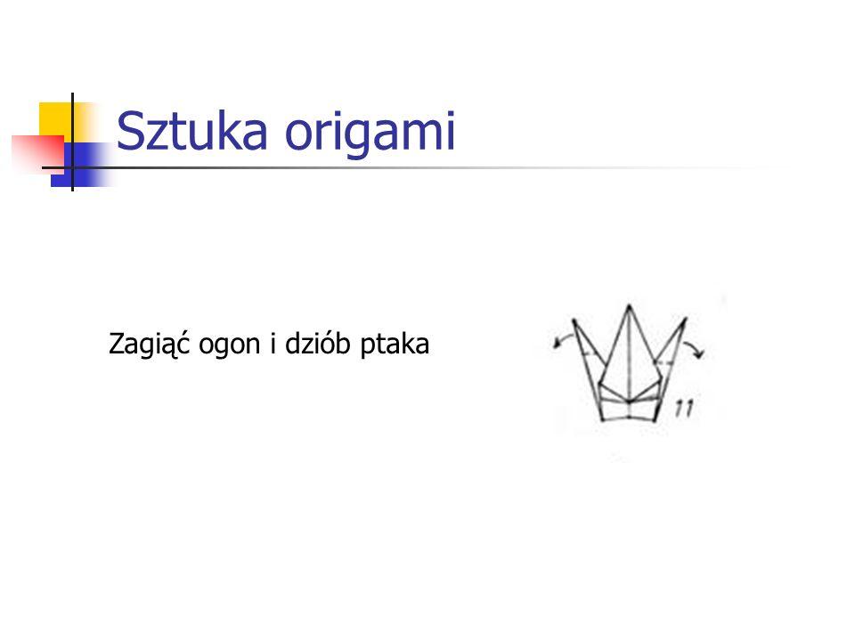 Sztuka origami Zagiąć ogon i dziób ptaka