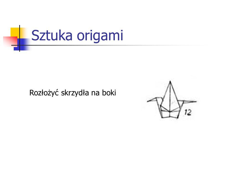 Sztuka origami Rozłożyć skrzydła na boki