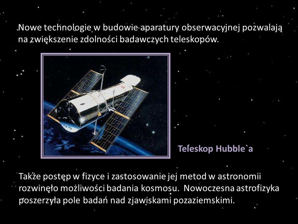 Nowe technologie w budowie aparatury obserwacyjnej pozwalają na zwiększenie zdolności badawczych teleskopów.