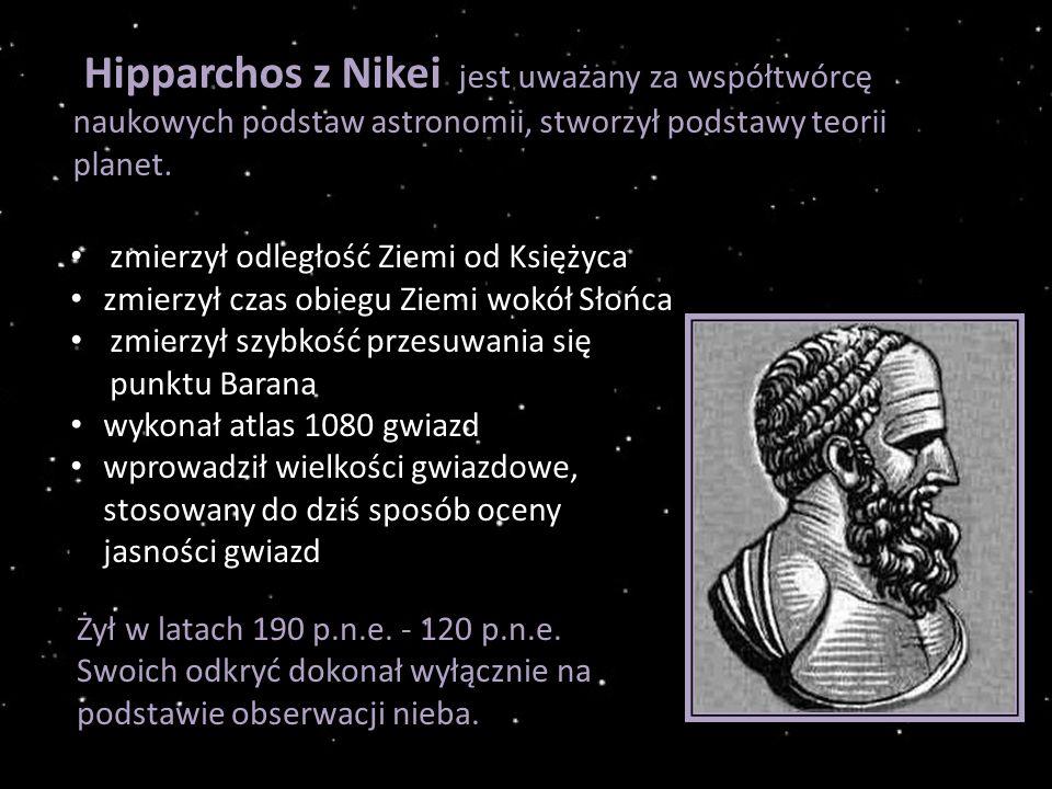 Hipparchos z Nikei jest uważany za współtwórcę naukowych podstaw astronomii, stworzył podstawy teorii planet.