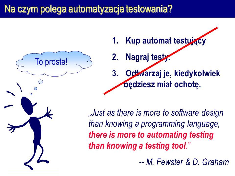 Na czym polega automatyzacja testowania. To proste.