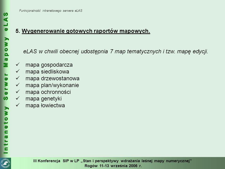 """III Konferencja SIP w LP """"Stan i perspektywy wdrażania leśnej mapy numerycznej Rogów 11-13 września 2006 r."""