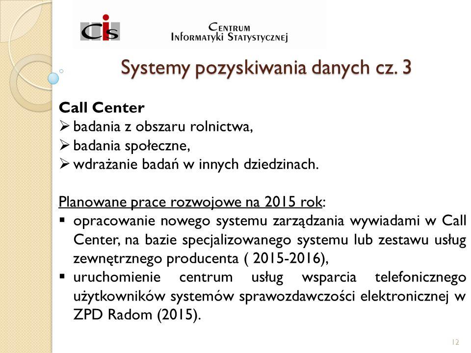 Systemy pozyskiwania danych cz.