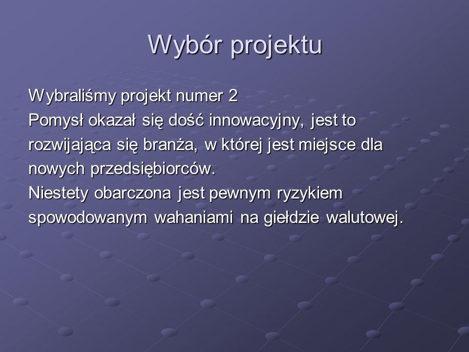Opis projektu Klienci: -Głównym klientem skupującym walutę internetową od naszej firmy są giełdy internetowe typu: bitcurex.pl, kraken.com, bitmaszyna.pl, bitbuy.pl -Kolejną grupą klientów są klienci indywidualni.