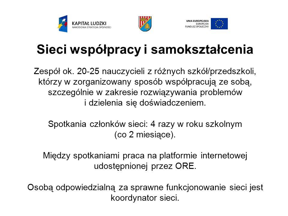 Sieci współpracy i samokształcenia Zespół ok.