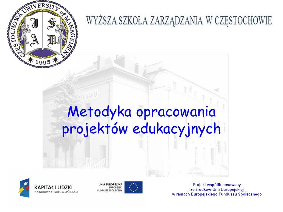 W realizacji projektów edukacyjnych należy pamiętać o ciągłym monitorowaniu przedsięwzięcia i zapewnienie mu odpowiedniego wsparcia.