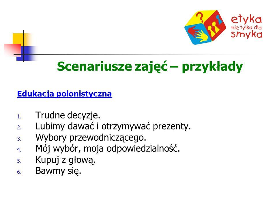 Scenariusze zajęć – przykłady Edukacja polonistyczna 1.