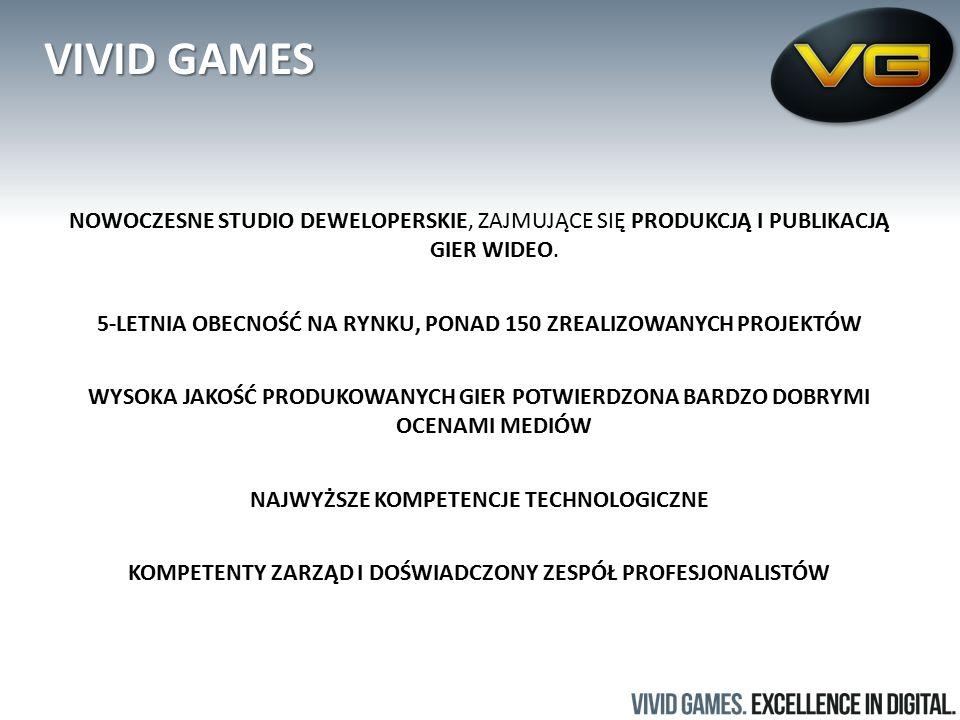 VIVID GAMES NOWOCZESNE STUDIO DEWELOPERSKIE, ZAJMUJĄCE SIĘ PRODUKCJĄ I PUBLIKACJĄ GIER WIDEO.