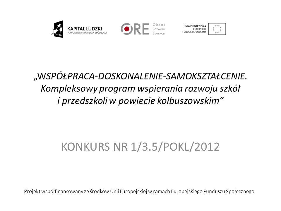 Ramy czasowe BIURO PROJEKTU: Poradnia Psychologiczno- Pedagogiczna w Kolbuszowej ul.