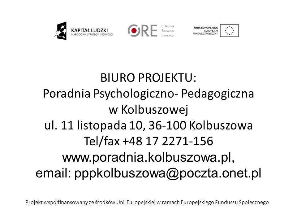 Informacje o projekcie: Priorytet: III Wysoka jakość systemu oświaty PO KL Działanie: 3.5.