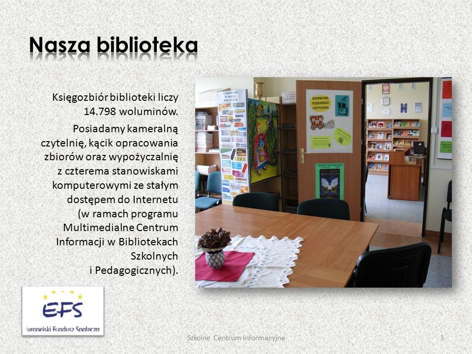 Księgozbiór biblioteki liczy 14.798 woluminów.