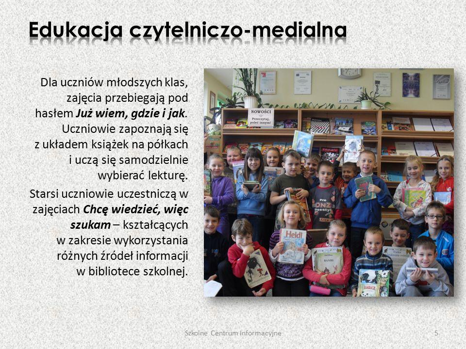 Dla uczniów młodszych klas, zajęcia przebiegają pod hasłem Już wiem, gdzie i jak.